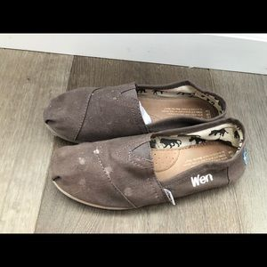 Personalized design Toms Gray shoes